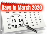 How Many days in March 2020