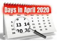 How many days in April 2020