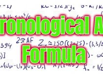 Chronological Age Formula