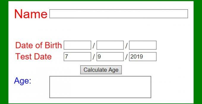 Pearson age calculator