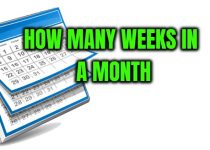 How many weeks are in a month